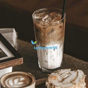 ly thủy tinh cafe sọc khía cao 420ml